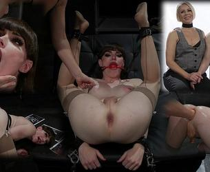 [TSPussyHunters.com / Kink.com] Natalie Mars, Helena Locke - The Smut Peddlers: Part Two Helena Locke and Natalie Mars (06.04.2020) [2020 g., Shemale, Strap-on, Anal, Anal Fisting, BDSM, Bondage, Stockings, Spitting, Flogging, Spanking, Ball Gag, Nipple Clamps, Caning, CBT, SiteRip, 540p]