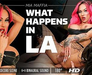 [GroobyVR.com] Mia Maffia (What Happens In LA) [2019, Hardcore, Cowgirl, Blowjob, Pink Hair, Shemale, Virtual Reality, 4K, VR, 1920p] [Oculus / Vive / Index]