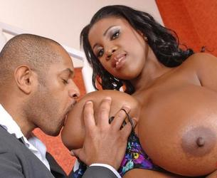 [DDFBusty.com / DDFProd.com] Maserati - Boobalicious newcomer boffed! [2012 g., All sex,Big ass,Black,Ebony,Big natural tits,Huge boobs,Blowjob,Titfuck,Cum shots., 720p]