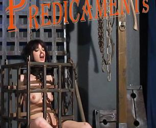 [SensualPain.com] Mar 15, 2017: Caged Predicaments | Abigail Dupree | Master James [2017 g., Bells, Cage, Candle, Caning, Chains, Crying, Fire, Irons, Natural Breast, Shackles, Shaved, Tattoo, Tears, 1080p, HDRip]