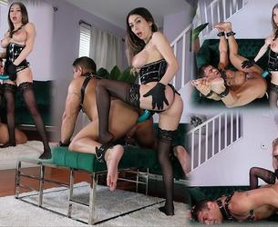 [FemdomEmpire.com] Kat Dior - Pegging Rituals (19.11.2020) [2020 g., Femdom, Strap-on, Pegging, Anal, Anal Fingering, Chastity, Stockings, SiteRip, 1080p]