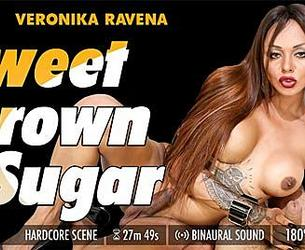 [GroobyVR.com] Veronika Ravena - Sweet Brown Sugar [2019, Hardcore, Cowgirl, Blowjob, Anal, Shemale, Virtual Reality, Mobile, VR, 960p]
