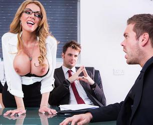 [BigTitsAtWork.com / Brazzers.com] Stacey Saran (The Firm and the Fanny / 17.02.16) [2016 g., Work Fantasies,Blonde,Business Woman,Big Tits,Big Tits Worship, 1080p]